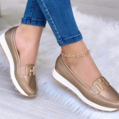 Women's Solid Color Flat Shoes Nihaostyles Clothing Wholesale NSCRX76881