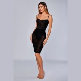 Women's Tight-fitting Low-cut Strap Dress Nihaostyles Clothing Wholesale NSDMS76896