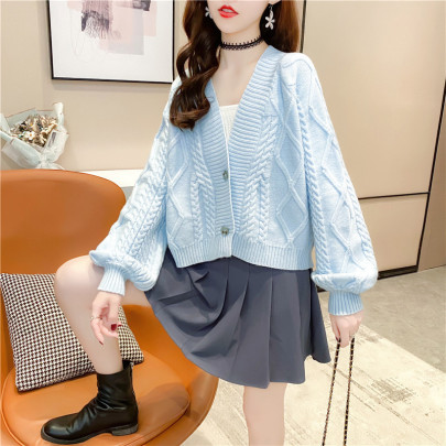 Women's Solid Color Loose Knitted Cardigan Nihaostyles Clothing Wholesale NSBY76912