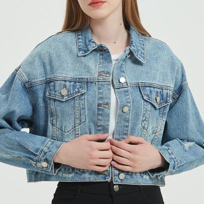 Women's Short Denim Jacket Nihaostyles Clothing Wholesale NSSY76919