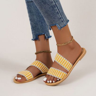 Women's Flat Slippers Nihaostyles Clothing Wholesale NSYSY77090