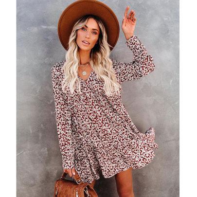 Women's Floral Print Dress Nihaostyles Clothing Wholesale NSJIM77060