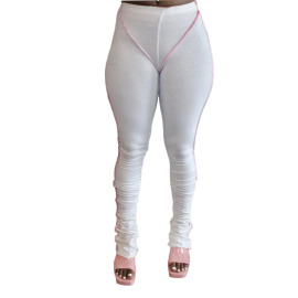 Women's Pull Strip Pleated Tight-fitting Slimming Yoga Pants Nihaostyles Clothing Wholesale NSCN78185