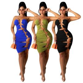 Women's Beach Sleeveless Lace-up Dress Nihaostyles Wholesale Clothing NSCN78187