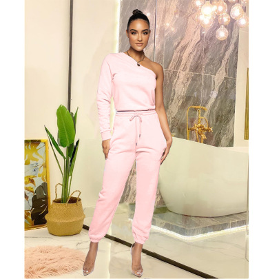 Women's Solid Color Casual Sweater Set Nihaostyles Wholesale Clothing NSQMD78212