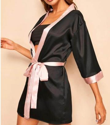 Women's Cardigan Lace Pajamas Set Nihaostyles Wholesale Clothing NSFQQ78286