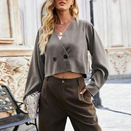 Women's Long-sleeved Cardigan Slim Suit  Nihaostyles Wholesale Clothing NSLM78324