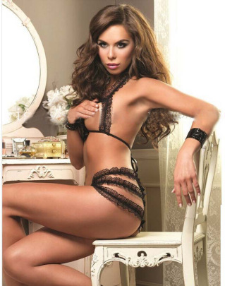 Women's Open Crotch Lace Dew Three-point Sexy Lingerie Nihaostyles Wholesale Clothing NSFQQ78346