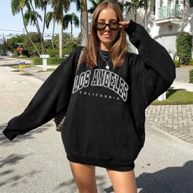 Women's Letter Print Round Neck Fleece Sweatshirt Nihaostyles Clothing Wholesale NSXPF78381