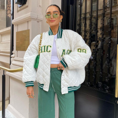 women's letter embroidery baseball jacket nihaostyles clothing wholesale NSXPF78384