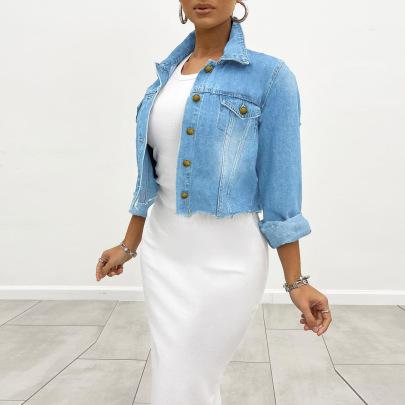 Women's Creative Bandage Denim Coat Nihaostyles Wholesale Clothing NSWL78431