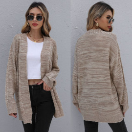 Women's Loose Knitted Sweater Coat Nihaostyles Wholesale Clothing NSDMB78456