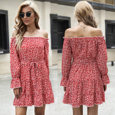Women's Lace Floral Long Sleeve Dress Nihaostyles Wholesale Clothing NSDMB78461