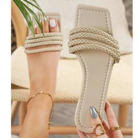 Women's Flat Bottom Square Toe Large Size Slippers Nihaostyles Wholesale Clothing NSHYR78500