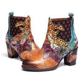 Women's Bohemian Printed Short Martin Boots Nihaostyles Wholesale Clothing NSHYR78506