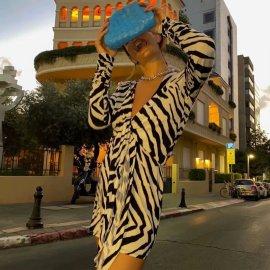 Women's Zebra Pattern Dress Nihaostyles Wholesale Clothing NSAM78507
