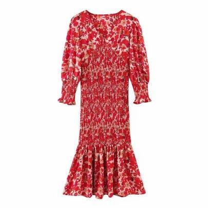 Women's Print Slim Dress Nihaostyles Wholesale Clothing NSAM78508