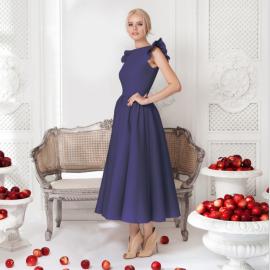 Women's Round Neck Sleeveless  Ruffled Dress Nihaostyles Wholesale Clothing NSYIS78524