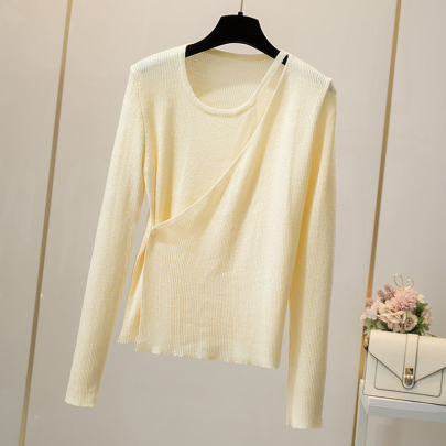 Women's Off-the-shoulder Long-sleeved Knitted Sweater Cardigan Nihaostyles Wholesale Clothing NSYID79358