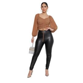Women's Solid Color Mesh Net Yarn Top Nihaostyles Wholesale Clothing NSXPF78538