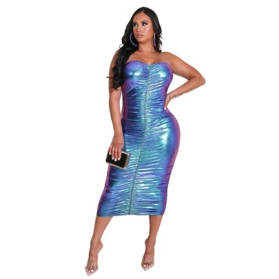 Women's Ice Silk Tight-fitting Hip Dress Nihaostyles Wholesale Clothing NSXPF78560