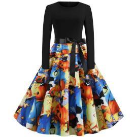 Women's Printing Dress Nihaostyles Wholesale Halloween Costumes NSSAP78577