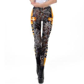 Women's Printed Tight-fitting Leggings Nihaostyles Wholesale Halloween Costumes NSNDB78605