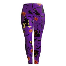 Women's Halloween Pumpkin Printed Leggings Nihaostyles Wholesale Halloween Costumes NSNDB78617