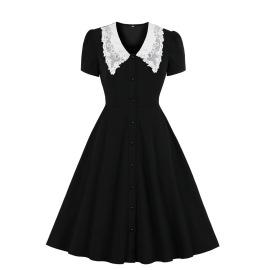 Women's Doll Collar Dress Nihaostyles Clothing Wholesale NSMXN78634