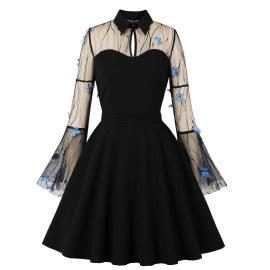 Women's Embroidery Stitching Dress Nihaostyles Clothing Wholesale NSMXN78638