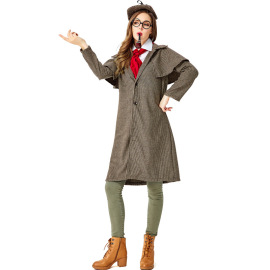 Women's Sherlock Holmes Cosplay Costume Nihaostyles Wholesale Halloween Costumes NSPIS78640