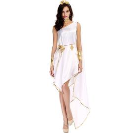 Women's White Flowy Irregular Cosplay Costume Set Nihaostyles Wholesale Clothing NSPIS78649