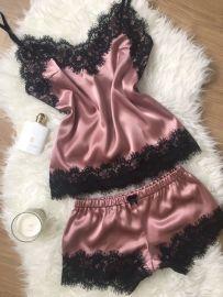 Women's Lace Two-piece Pajamas Nihaostyles Wholesale Clothing NSFQQ78668