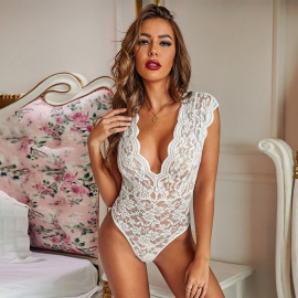 Women's Wave Lace One-piece Lingerie Nihaostyles Clothing Wholesale NSMDS78696