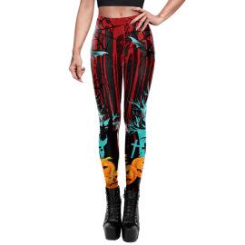 Women's Halloween Pattern Printed Leggings Nihaostyles Wholesale Halloween Costumes NSNDB78715