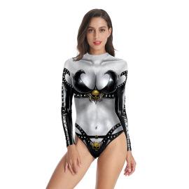 Women's Digital Printed One-Piece Swimsuit Nihaostyles Wholesale Halloween Costumes NSNDB78716