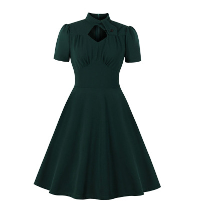 Women's Solid Color Slim Fit Dress Nihaostyles Clothing Wholesale NSMXN78729