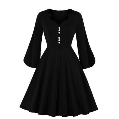 Women's V-neck Solid Color Slim Midi Dress Nihaostyles Clothing Wholesale NSMXN78731