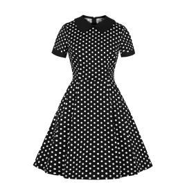 Women's Polka Dot Doll Collar Slim Fit Dress Nihaostyles Clothing Wholesale NSMXN78733
