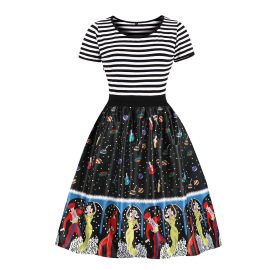 Women's Striped And Pattern Printed Dress Nihaostyles Clothing Wholesale NSMXN78734