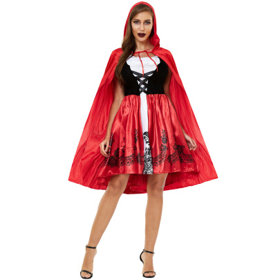 Little Red Riding Hood Cosplay Costume Nihaostyles Wholesale Halloween Costumes NSMRP78746