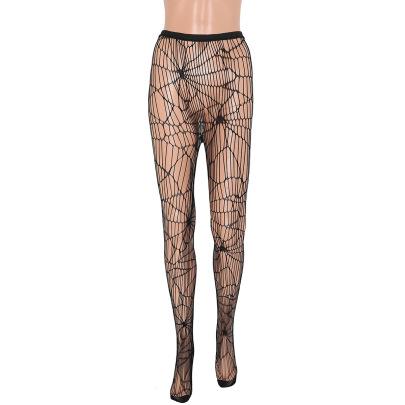 Women's Spider Web Stockings Pantyhose Nihaostyles Wholesale Halloween Costumes NSMRP78765
