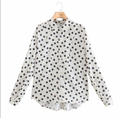 Women's Retro Polka-dot Shirt Nihaostyles Wholesale Clothing NSAM78516