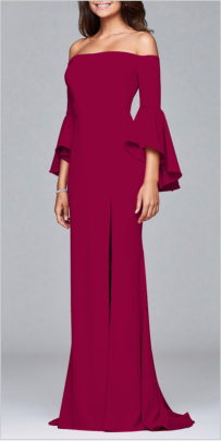 Autumn And Winter Women's Long-sleeved Off-the-shoulder Splitted Evening Dress Nihaostyles Wholesale Clothing  NSYIS79350