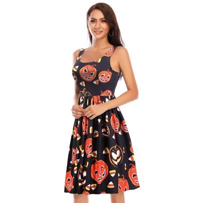 Women's Printing Retro Big Swing Dress Nihaostyles Wholesale Halloween Costumes NSSAP78821