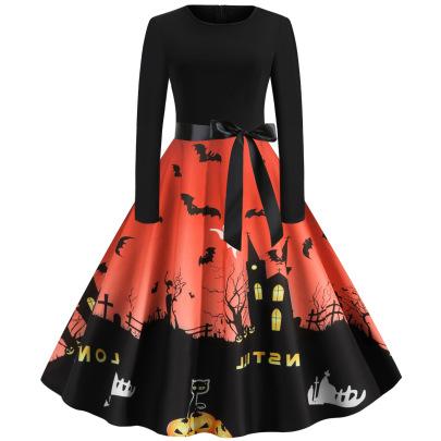 Women's Gradient Print Dress Nihaostyles Wholesale Halloween Costumes NSSAP78834
