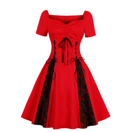 Women's Lace Strapless Dress Nihaostyles Wholesale Halloween Costumes NSMXN78858