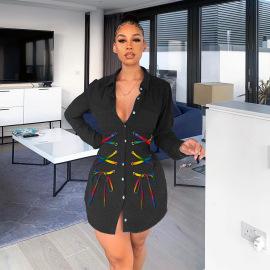 Women's Bandage Denim Long Jacket Nihaostyles Clothing Wholesale NSWL78891