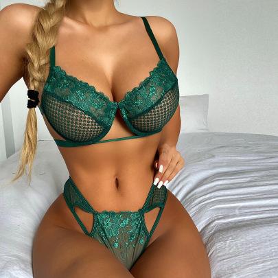 Women's Lace Lingerie Set Nihaostyles Clothing Wholesale NSRBL78911