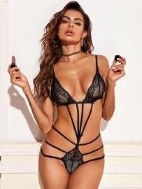 Women's Bundled Lace Three-point Set Nihaostyles Wholesale Clothing NSFQQ78931